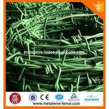 Longitud de alambre de púas revestida de PVC por rollo