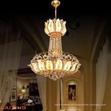 2017 Hotel Crystal colgante de luz de oro / araña para la fabricación con UL