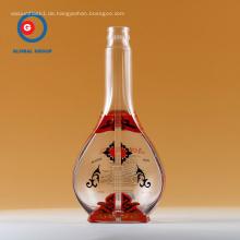 Siebdruck Glas Wodka Flasche benutzerdefinierte Flasche