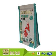 Pochette de poissons d'emballage alimentaire repas plat refermable imprimé sur mesure pour animaux aquatiques