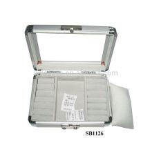 Алюминиевый Смотреть коробки для 2 часы и кольца, шпильки, подвески