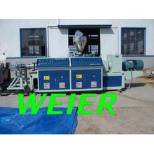 Double Screw Plastic Extruder Machine For PVC Pipe / Profil
