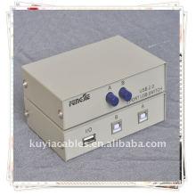 Interruptor de compartimiento de escáner de impresora USB 2.0 de 2 puertos