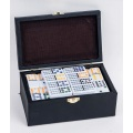 Double 12 Dominoes Game Set In Leather Box