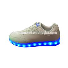 nouvelle LED lumières chaussures sneaker chaussures LED PU cuir chaussure de sport