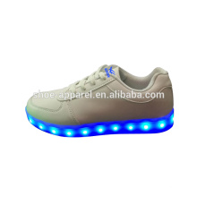 novas luzes LED sapatos sapatilha sapatos LED PU sapato esporte de couro
