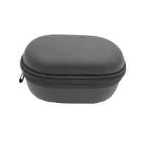 portable debossed logo earphone earbuds case with zipper