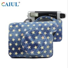 Star Denim Fabric Camera Bag