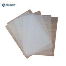 Folha de PVC transparente para impressão a jato de tinta