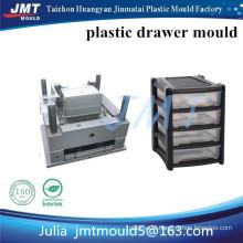 JMT Huangyan OEM 4 shallow drawer storage plastic injection mould