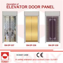 Panel de la puerta de acero inoxidable de Hiarline para la decoración de la cabina del elevador (SN-DP-337)