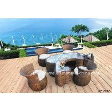 Наружный и закрытый чайный стол Wicker Weaving Furniture Bp-A68A