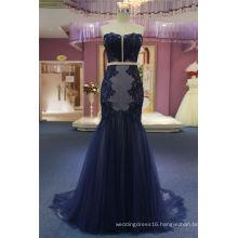 Strapless Mermaid Navy Blue Wedding Gown Evening Dress