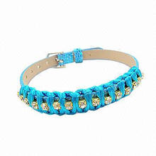 Personalized Colorful Blue Lace Bracelet, Various Colors are Available
