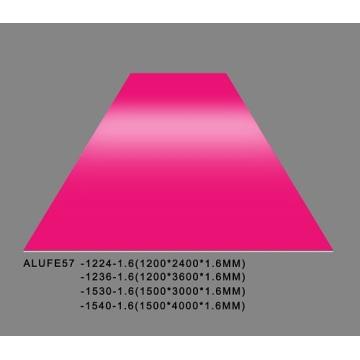 Plaque en tôle d'aluminium brillant fuchsia 1.6mmThick 5052 H32