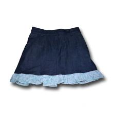 cotton black denim bowknot skirt for girls