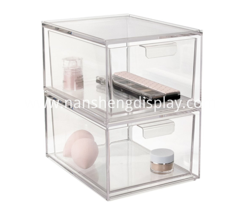 2-Pack Premium Quality Stackable Cosmetic Organizer Drawers