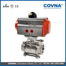 3-PC Válvula de esfera pneumática de controle
