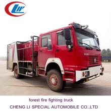HOWO 4 * 4 caminhão de combate a incêndios florestais para venda