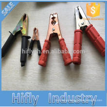 008 Battery Charger Clip Crocodile Clamp 30A Copper Plated Battery Crocodile Clamps Alligator Clips Electrical test
