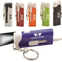 Bola de plástico promocionais caneta chaveiro