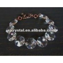 Clear Octagon bead bracelet