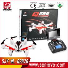 El más nuevo Flying WL-toys RC helicóptero UFO con la cámara hecha en China con FPV 5.8G en tiempo real del transporte rc drone WL-Q282G