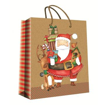 CHRISTMAS SERIES KRAFT GIFTBAG22-0