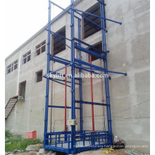 guide rail elevated work lift table