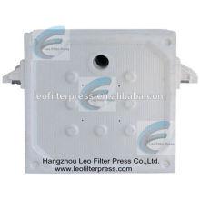 Plaque filtrante de presse de filtre de membrane de 800 pp (polypropylène), haute membrane pressant des plaques de presse de filtre de presse-filtre de Leo