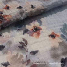 50s cotton double gauze fabric printed for dress