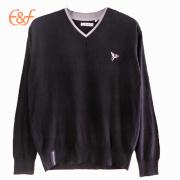 V Neck Mens Custom Sweater Design Knitting Pullover