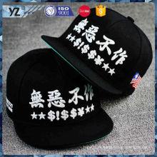 Nouvel arrivant différents types chapeau snapback avec broderie 3d pour promotion