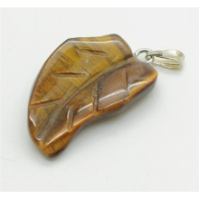 Leaf Shape Yellow Tiger eye pendant