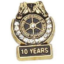 Personalizado Die Casting Reconhecimento Pin com Stone Decoração