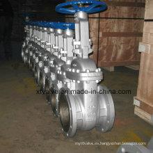 Uso industrial Acero al carbono fundido Wcb Válvula de compuerta de extremo de brida