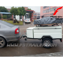 Off-road roof tent camping trailer
