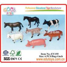 Juguetes de animales de plástico - animales de juguete de granja