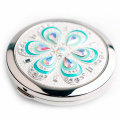 Kundengebundener heißer Presse-Logo-Rosa-PU-Spiegel mit hoher Qualität