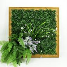 Diseñador de decoración para el hogar marco de pared verde con follaje