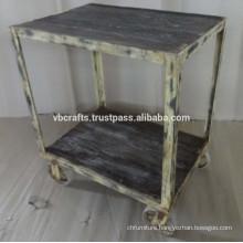 Industrial Trolley Reclaim Wood Top
