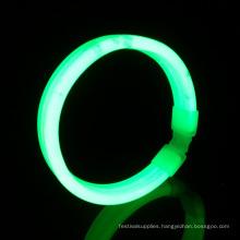 green wide glow wristband