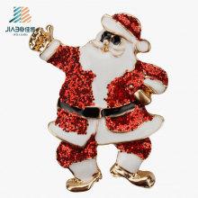 Benutzerdefinierte Santa Claus Crafts Weihnachten Metall Emaille Abzeichen Pin für Promotion