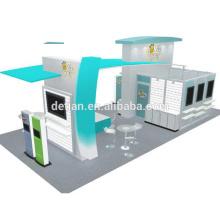 Detian ofrece la exhibición de la feria de diseño de exhibición de la cabina de moda