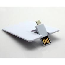 Disco instantâneo de alta velocidade do cartão de crédito OTG da movimentação do flash de USB do cartão de visita para a movimentação da pena de USB da promoção