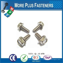 Made In Taiwan Metric Hexagon Flange Bolts Full Thread DIN 6921 Serrated Material Zinc Plated Class 8 8 Steel