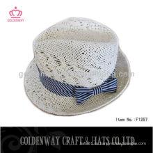 Sombrero de Fedora de las muchachas con Bowknot