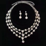 Jewelry Set, Various Designs are Available, Excellent Workmanship, Includes Necklace and Earrings