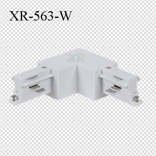 3 phase track L Connector in white