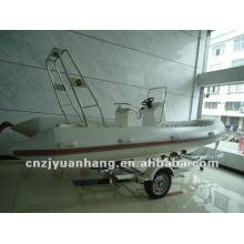 Barco inflable de la costilla de fibra de vidrio 550